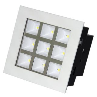 LED Downlight 9W štvorec