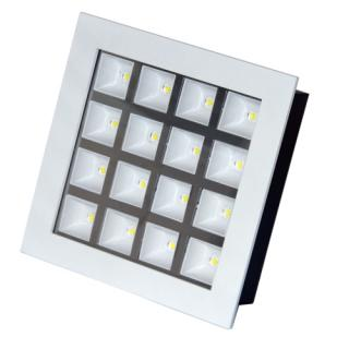 LED Downlight 16W štvorec