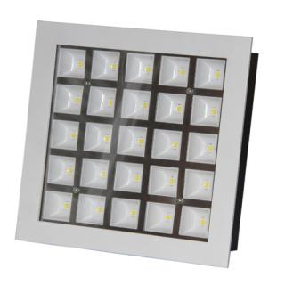 LED Downlight 25W štvorec